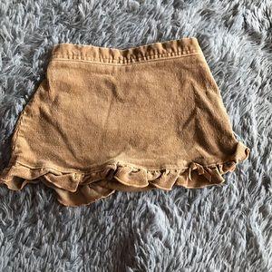 CHILDREN'S PLACE corduroys skirt with ruffle hem